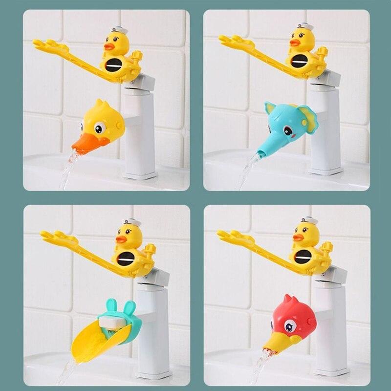 Удлинитель для смесителя для ванной комнаты, детские игрушки для ванной, мультяшная ручка, инструмент для мытья рук ребенка, аксессуары для ...