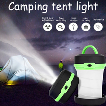 Portable Camping Light Tent Light Multifunction Retractable Camping Lamp Outdoor Lantern LED Flashlight Pocket Torch AA Battery