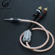 Hifi Canare 3,5mm a 2RCA de Cable de Audio de PC amplificador para móvil de interconexión de alta calidad 3,5 Jack a RCA Cable