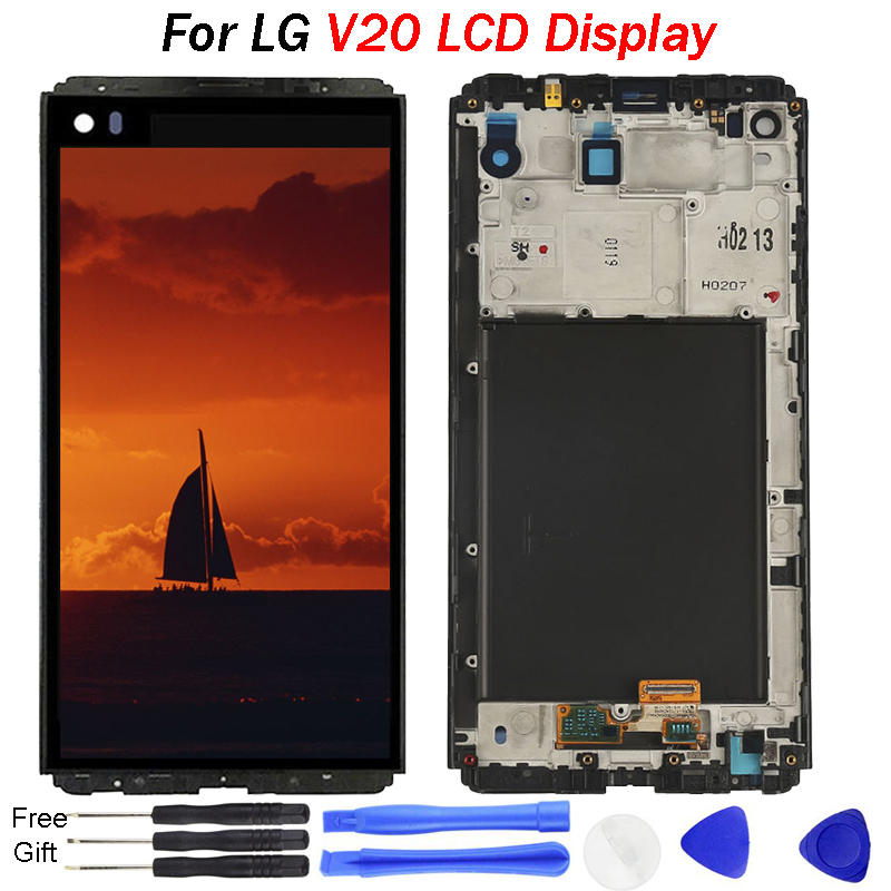 5.7 inch LCD For <font><b>LG</b></font> <font><b>V20</b></font> <font><b>Display</b></font> H990N H990DS H990T H910 H918 LS997 lcd Touch Screen Digitizer With Frame For <font><b>LG</b></font> <font><b>V20</b></font> LCD <font><b>Display</b></font> image