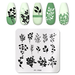 Image 4 - PICT YOU Nail Stamping Plates Tropical Collection Nail Art Stamp Templates DIY Nail Image Plate Stainless Steel Design Tool