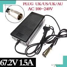 67.2V 1.5A caricabatteria 60V 1.5A adattatore di alimentazione per 60V 16S Litio Li Ion e della bicicletta della bici elettrica bici della batteria di trasporto libero