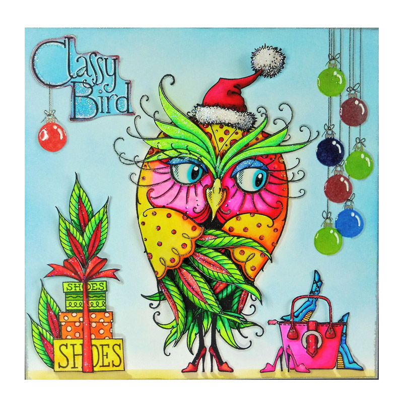Owl Classy Bird Letter Gift Bag Hat Animals Leaves Shoes Clear Silicone Stamps Scrapbook Craft Make Cards DIY Template Stamp Hot-1