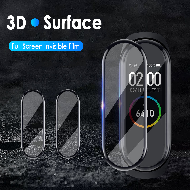 3D  Protective For Xiaomi Mi Band 4 Strap Explosion-proof Scratch-resistant Screen Protector Tempered Film FOR Mi Band 4 TSLM1