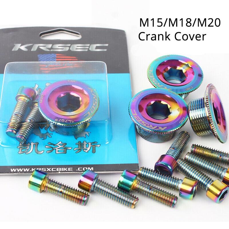 Crank Cover Screw Cap M20 MTB Crankset Crank Cover Aluminum BMX Road Bike Bolts