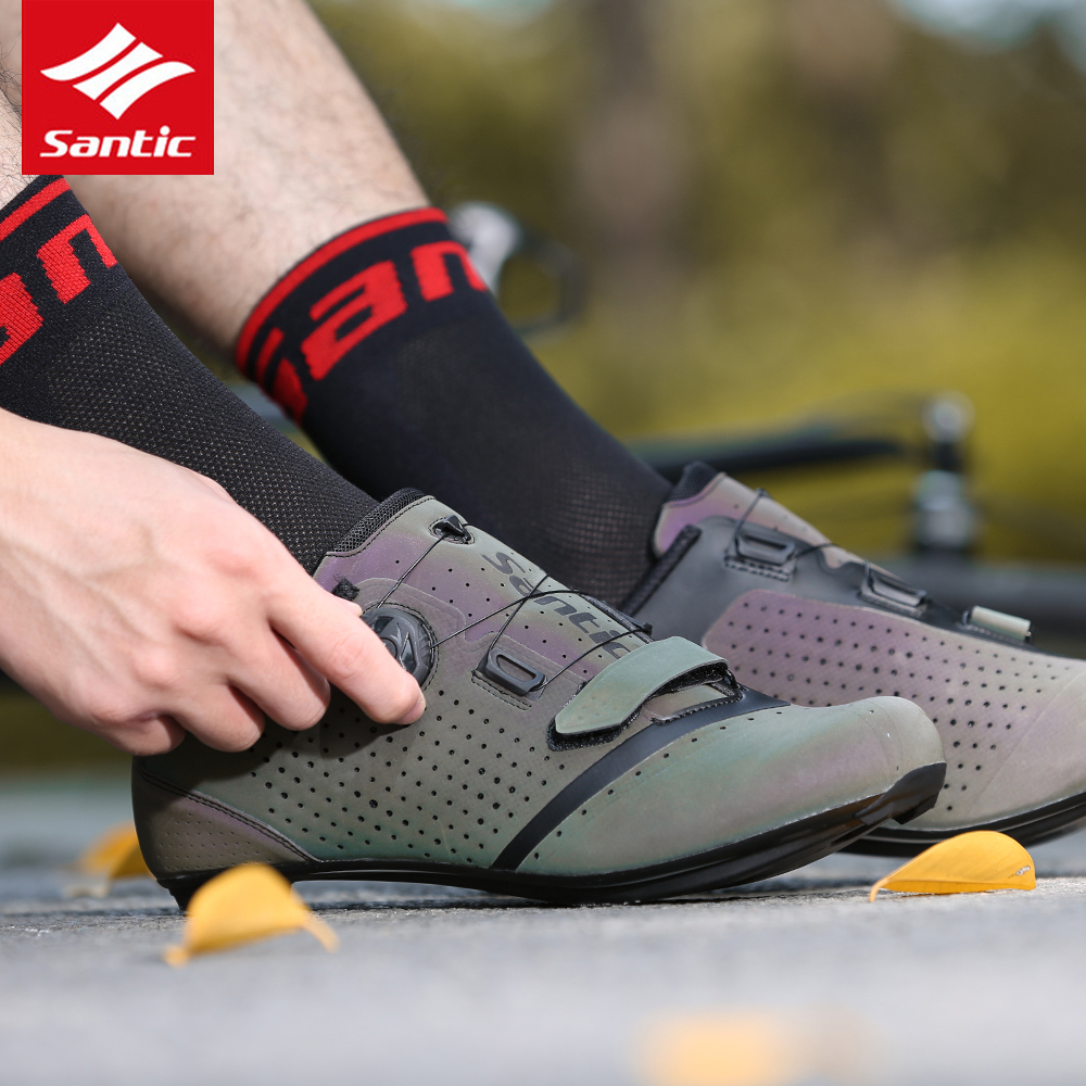 SANTIC Cycling Shoes Men Ultraight Anti-slip Bicycle Shoes Breathable Road MTB Bike Shoes Outdoor Sports Sneaker Bike Accessory