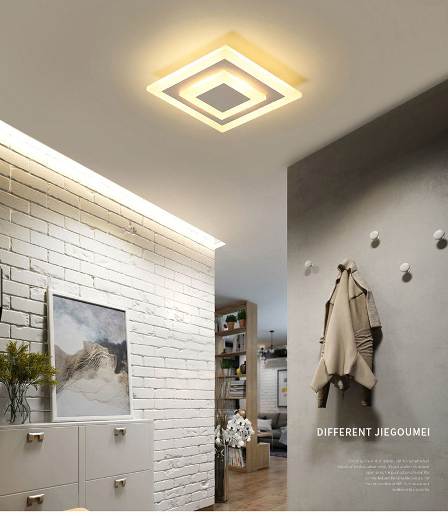H382b8972cf3344c28adfa800e2158dd8y Ceiling Light Modern LED corridor Lamp For bathroom living room round square lighting Home Decorative Fixtures dropshipping