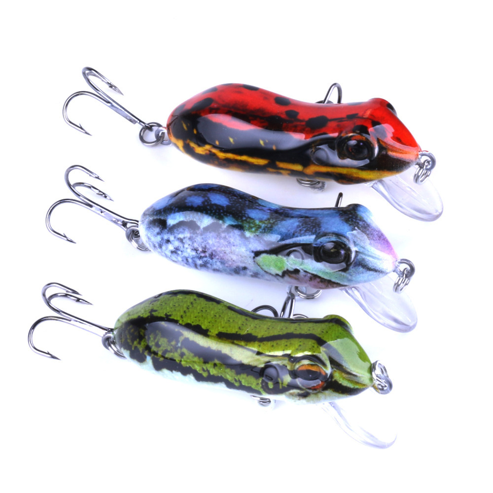 1PC 5cm 1 96 quot 10g 0 35oz Frog Lure Fishing Lures Topwater Floating Ray Frog Artificial Minnow Crank Bait Pesca Isca in Fishing Lures from Sports amp Entertainment