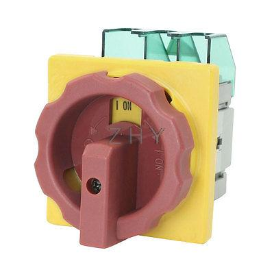 AC 600V 50Hz 32A ON/OFF 2 Position Locking Cam Combination Changeover Switch