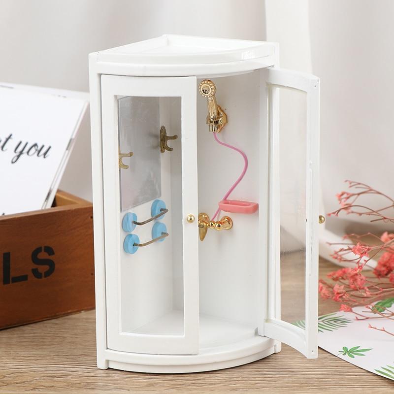 1 Набор Миниатюрный 1:12 кукольный домик миниатюрная мебель имитация белая ванная душевая комната новый 1/12 для кукольного дома украшения|Игрушечная мебель|   | АлиЭкспресс