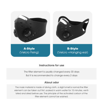 MOVIGOR PM2.5 Activated Carbon Cycling Mask Anti-Pollution MTB Road Bike Face Masks Dustproof Bicycle Running Sports Face Cover 1