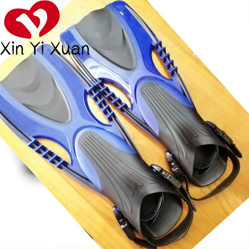 Swim Fins Adult Snorkeling Equipment New Style Adjustable Length Swim Fins Swimming Product Silica Gel Diving Flippers