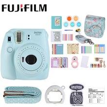 Новинка, 5 цветов, Fujifilm Instax Mini 9, фотокамера моментальной печати+ 14 в 1 комплект, чехол-сумка для видео, защитный фильтр+ альбом+ наклейка