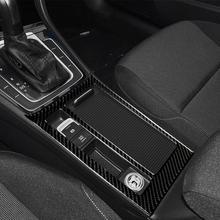 Аксессуары для интерьера из углеродного волокна, наклейка на панель держателя стакана для воды для Volkswagen Golf 7 GTI R GTE GTD MK7 2013-2017