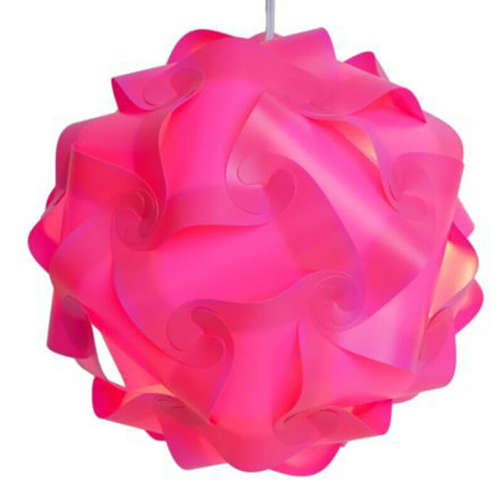 DIY <font><b>Puzzle</b></font> Lampshade Creative Jigsaw Light <font><b>Lamp</b></font> Modern Lampshade <font><b>Lamp</b></font> Cover Ceiling Chandelier Pendant Light Cover Home Decor image