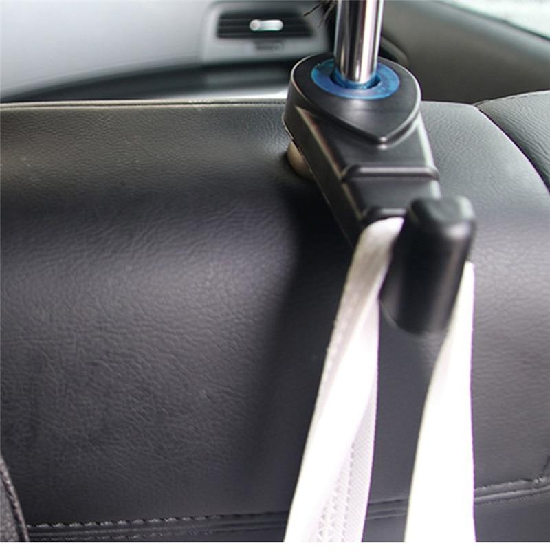 Car Seat Back Storage Hook 2Pcs Universal Seat Headrest Hanger Holder Hooks For Bag Purse Cloth Grocery  Mar29