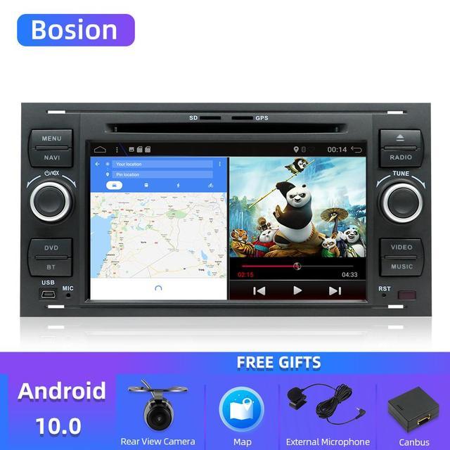 Автомагнитола Bosion, мультимедийная стерео система на Android 10, с четырехъядерным процессором, DVD, для Ford Mondeo C max focus galaxy S max fusion ranger