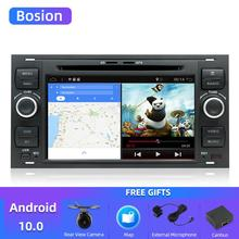 Bosion Quad core Android 10 samochodowy DVD 2 Din samochodowy stereo dla forda Mondeo c max focus galaxy s max fusion ranger Multimedia Autoaudio