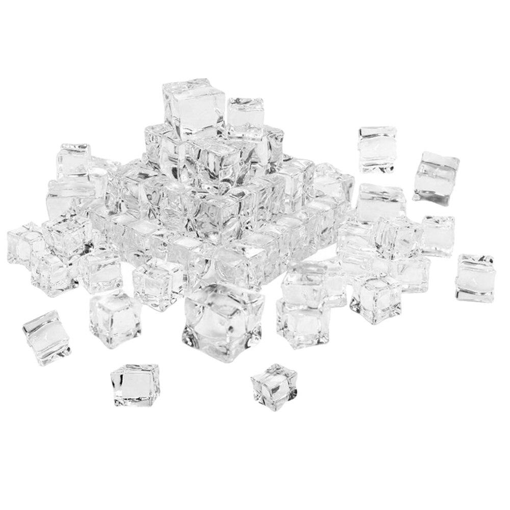 25pcs Simulation Ice Cubes Capsules Decorative Ice Cubes Fake Ice Cubes Display Ice Cubes Plastic Decorative