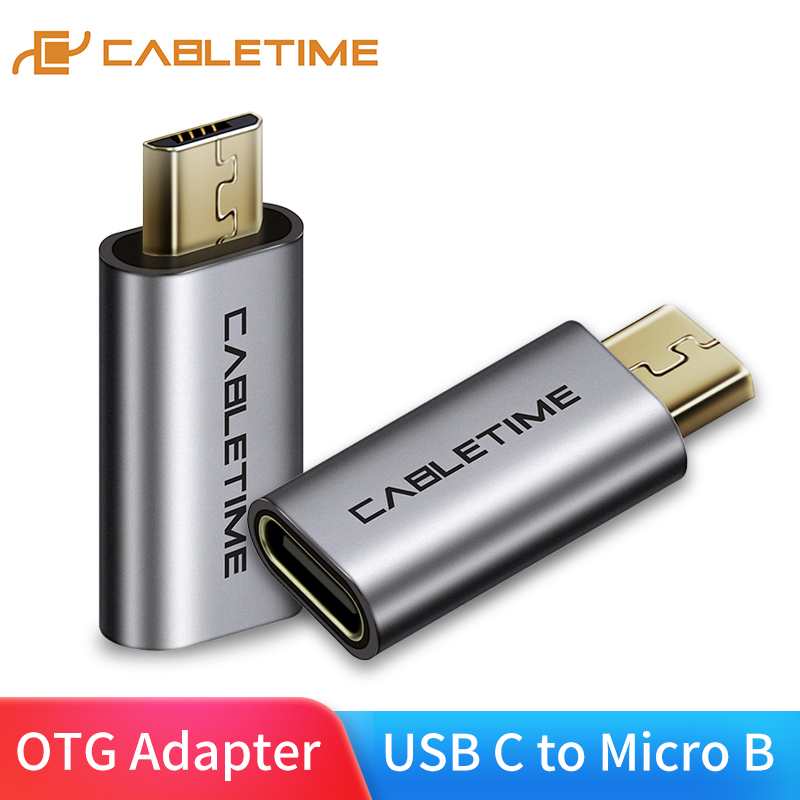 CABLETIME Micro USB To USB C Mobile Phone Adapter Micro Usb Adapter Connector For Xiaomi Samsung Galaxy Huawei USB Type C C006