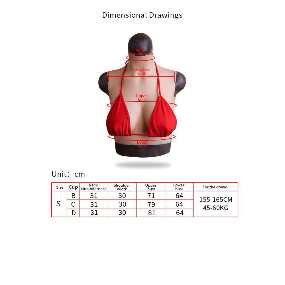 KOOMIHO B/C/D CUP fałszywe cycki wysoki kołnierz szyi do ucha realistyczne silikonowe formy piersi Crossdressing Drag queen Shemale 3G