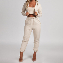 2019 Women Sport Suit Casual Autumn Winter Tracksuits Top Shirts Running Set Jogging Suits Sweat Pants 2pcs Gym Sportswear