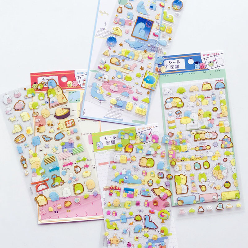 1 Sheet Golden Foil Cute Stickers DIY Stick Label PVC Phone Hand Account Decor Sticker Stationery