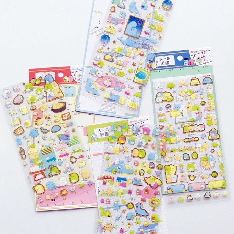 1 Sheet Golden Foil Cute Stickers DIY Stick Label PVC Phone Hand Account Decor Sticker Stationery