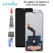 Ocolorノキア 6.2 液晶ディスプレイとタッチスクリーンデジタイザアセンブリの交換 + 接着剤 6.3 ノキア 7.2 電話