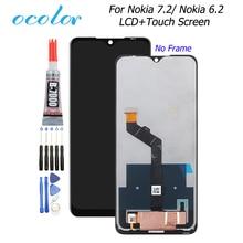 Ocolor pantalla LCD para Nokia 6,2, montaje de digitalizador con pantalla táctil de repuesto con herramientas y pegamento de 6,3 pulgadas para teléfono Nokia 7,2