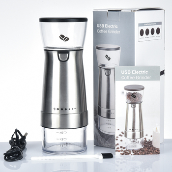 Electric Coffee Grinder USB Charging Bean Mill Professional Adjustable Home Office Use Machine Kitchen Tools - discount item  30% OFF Kitchen,Dining & Bar