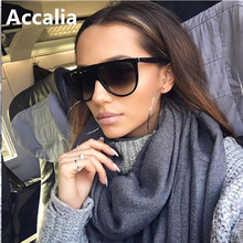 Thin Flat Top Sunglasses Women Luxury Brand