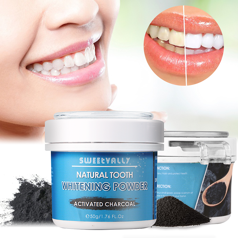 50g Teeth Whitening Oral Care Charcoal Powder Natural Activated Charcoal Teeth Whitener Powder Oral Hygiene Dental Tooth Care