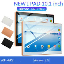 2020 Nieuwe 10 Inch Android 8.0 Tablet Android Octa Core Ram 6 Gb Rom 128 Gb Tablet Dual Sim-kaart telefoon 4G Call Wifi Tabletten Pc(China)
