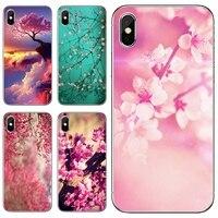 Funda de silicona para teléfono Motorola Moto G5 G5S G6 Z Z2 Z3 C G G2 G3 X4 E4 E5 Play Plus, rosa, flor de cerezo, Japón, flores de cerezo