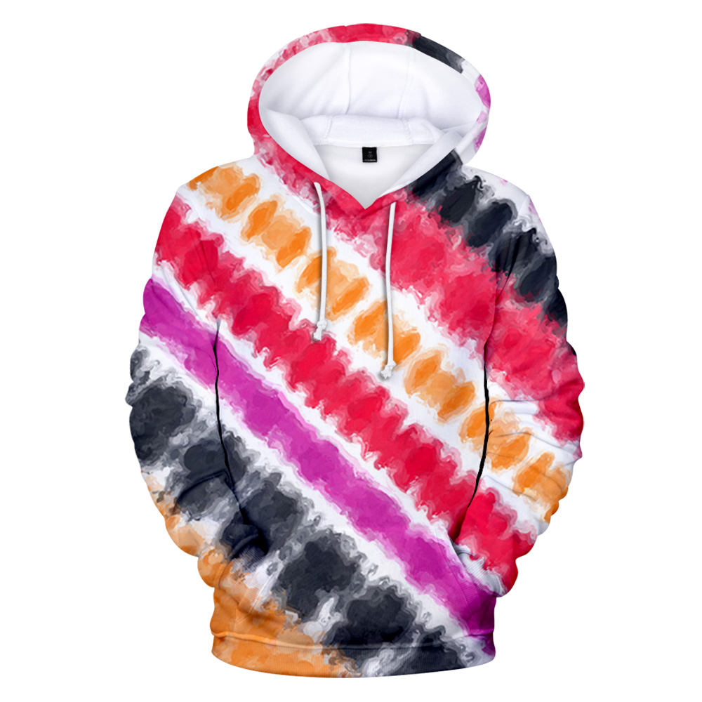 New 3D Tie Dye Hoodie Men / Women Spring Clothes Oversize Sweatshirt Men's Clothing Harajuku Pullover Hoody Print Casual Hooded 4