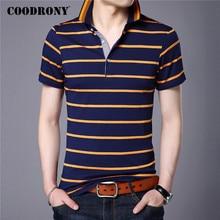 COODRONY Striped Short Sleeve T Shirt Men Cotton Tshirt Business Casual T-Shirt Men Clothing Spring Summer Men's T-Shirts C5098S