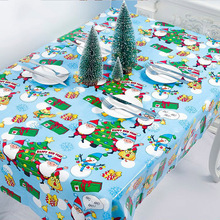 Christmas Print Tablecloth Waterproof Kitchen Dining Table Cloth Rectangle Home Party Decorative Santa Claus Xmas Party
