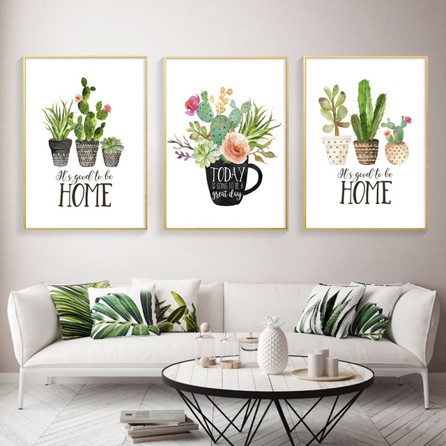 Cute Botnical Cactus Poster