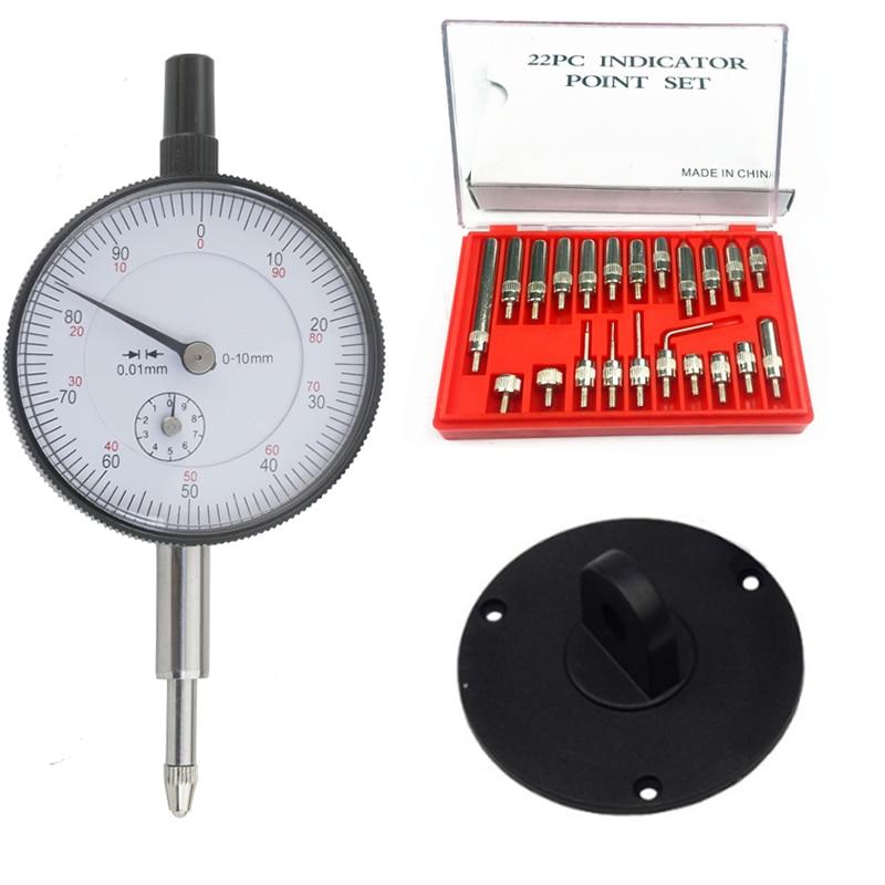 Индикатор циферблата 0-10 мм 25 мм 30 мм наконечник задней панели 22 шт. M2.5 4-48 наконечник резьбы для набора циферблата и тестовых индикаторов