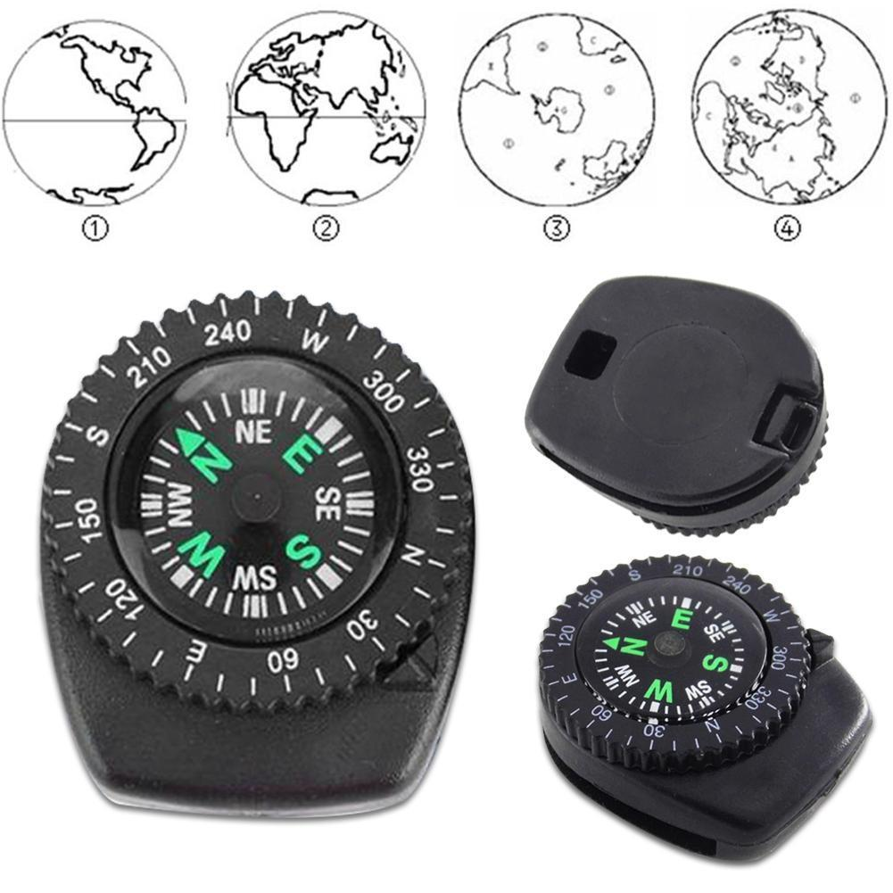 Mini Wristband Compass Detachable Watch Band Compass Emergency Navigation Gear Survival Tool A9G0