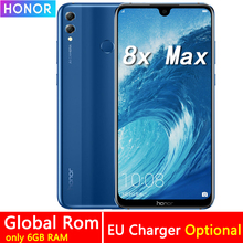 Honor 8X Max 7.12 pouces téléphone portable 4GB RAM 64GB ROM 16MP Octa Core écran empreinte digitale ID 4900mAh batterie Smartphone