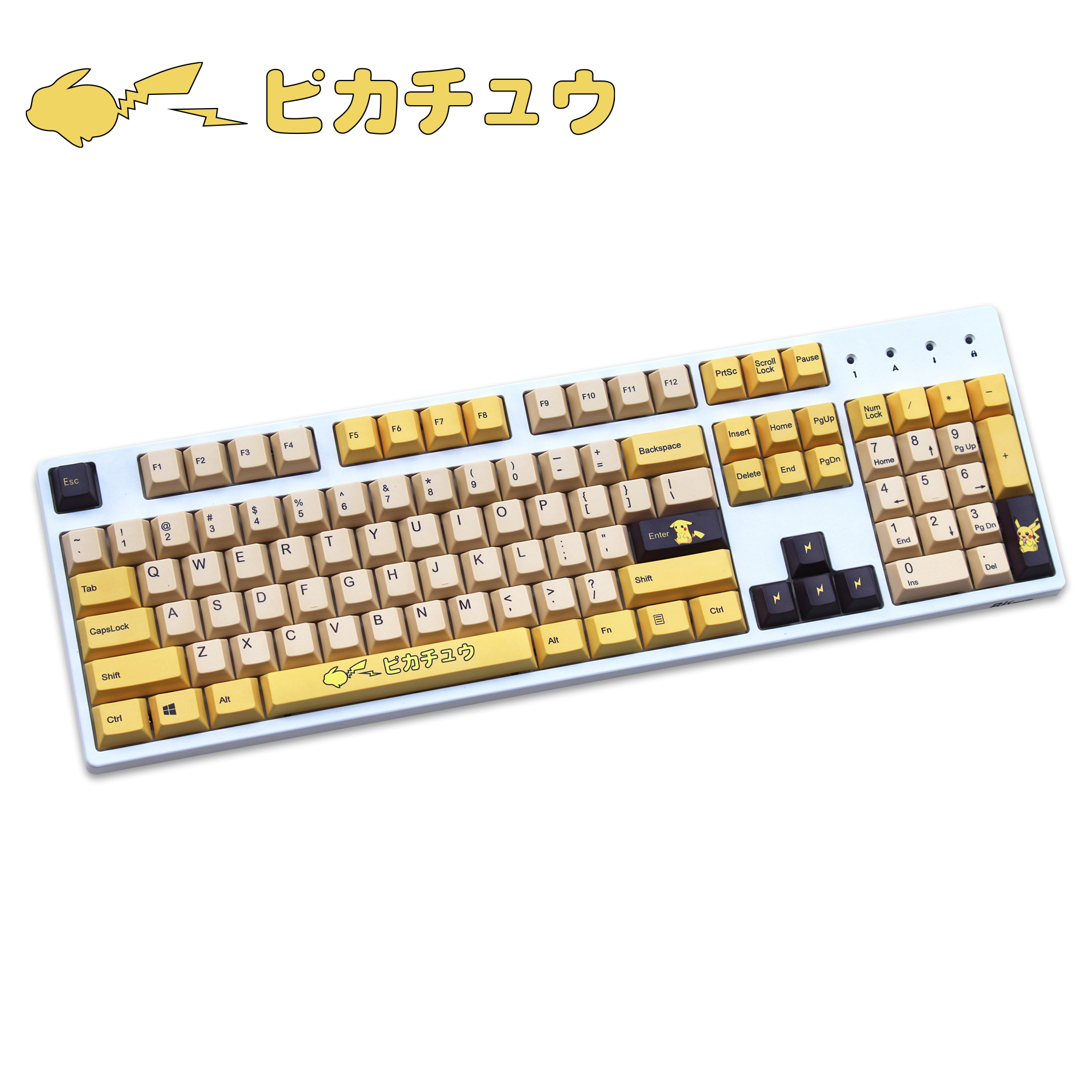 PIKACHU 108 Keys PBT Keycap Cherry Profile Five-sided Dye Sublimation MX Switch For Mechanical Keyboard Keycap Sell Only Keycap