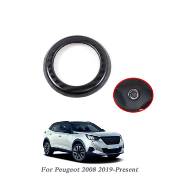 Car Engine START Button Replace Cover STOP Switch Multimedia Knob Circle Sequin Accessories Key For Peugeot 2008 2019-Present image