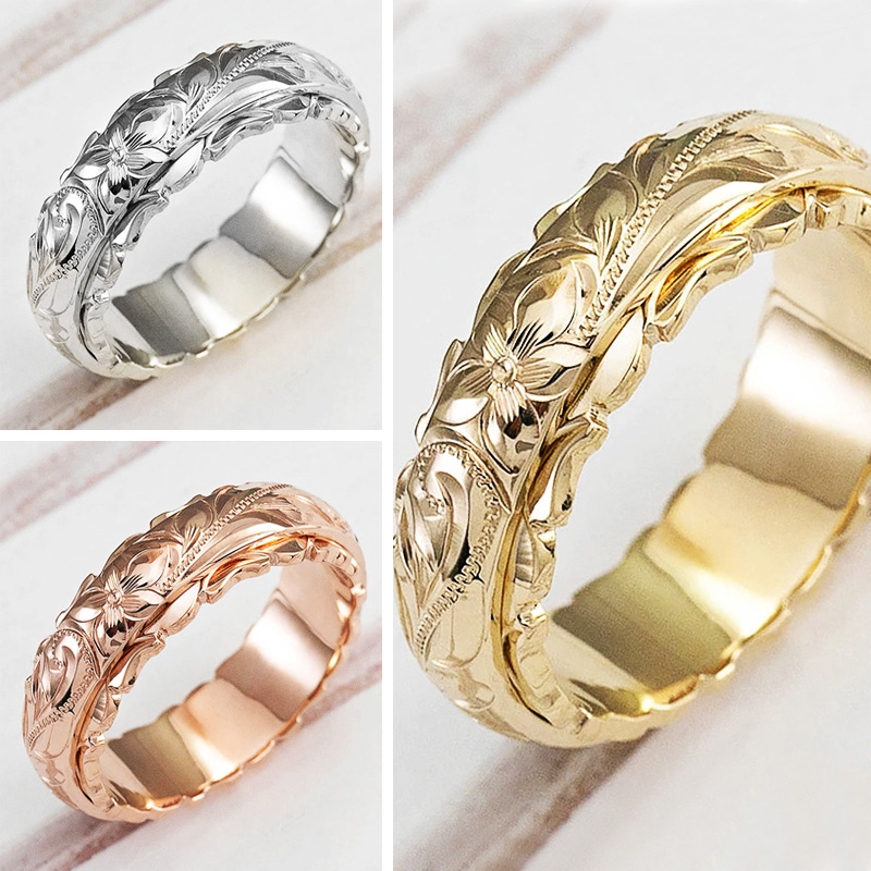 Huitan New Fashion Craved Design Women Engagement Rings Delicate Birthday Gift Proposal Ring for Lover Trendy Jewelry Size 6 12