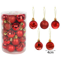 Colorful Christmas Tree Decoration Balls Set