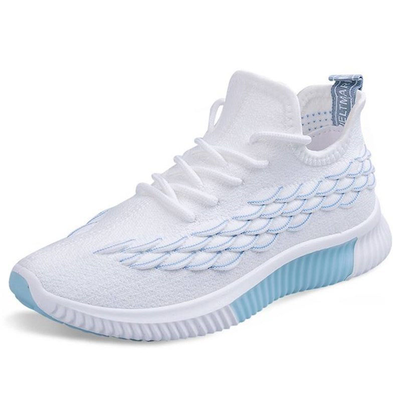 Shoes Women 2020 New Flying Weaving Casual Sports Shoes Breathable Running Shoes Student Shoes Women Explosion Models