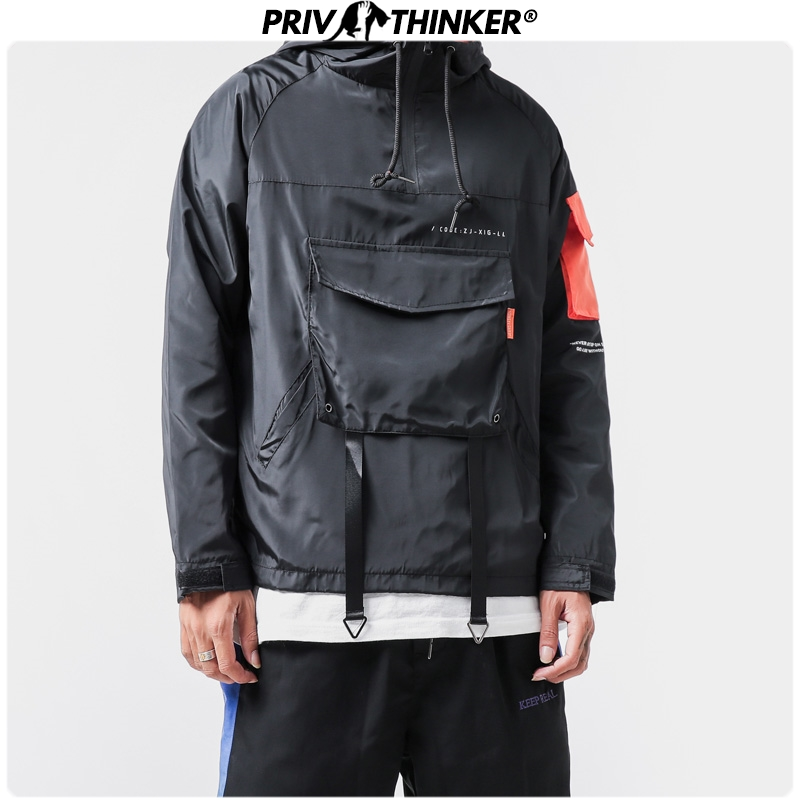Privathinker Men Solid Fashion Hoodies 2020 Spring Loose Streetwear Sweatshirts Harajuku Hooded Clothes Hip Hop Hoodie Plus Size