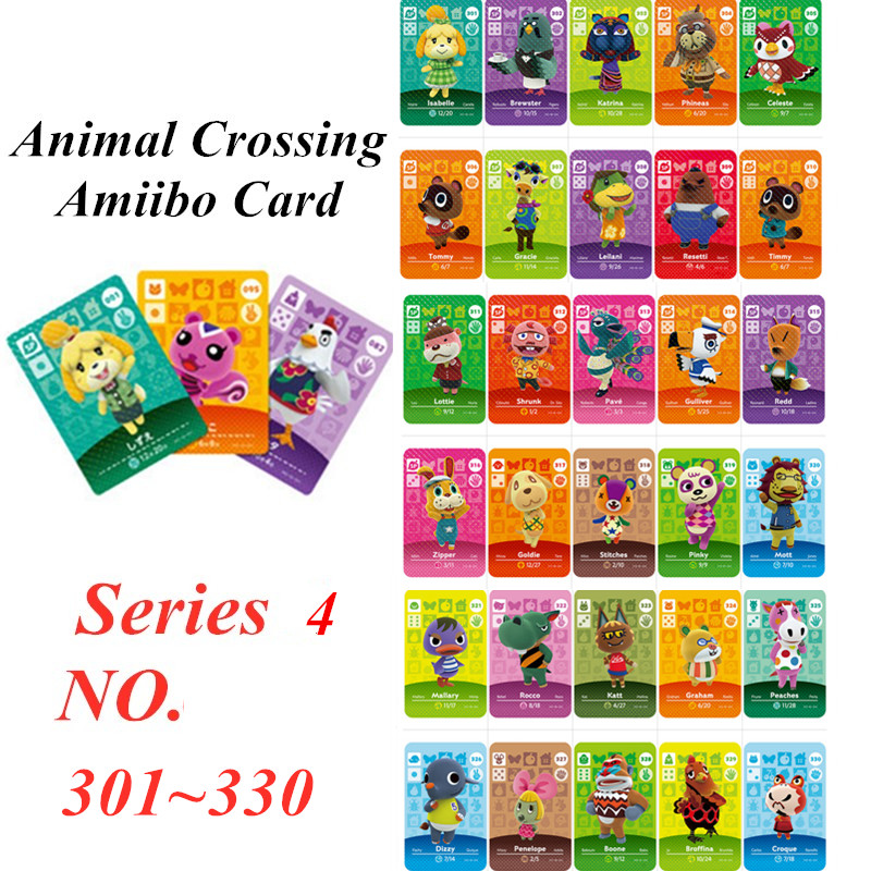Animal Crossing Card Amiibo NFC Card For Nintendo Switch NS Games Series 4  (301 To 330)