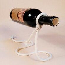 Creative Suspension Rope Wine Rack Metal Wine Bottle Display Racks Kitchen Dining Room Cellar Bar Wines Stand Holder Shelves
